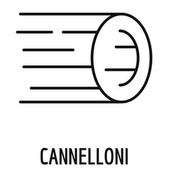 cannelloni pasta icon outline style vector image
