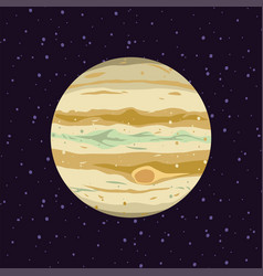 cartoon of jupiter solar system planets vector image