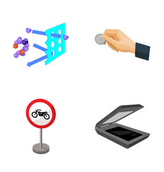 Chemistry parking and other web icon in cartoon vector