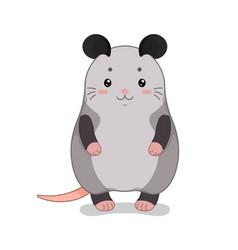 Childish with cute possum vector