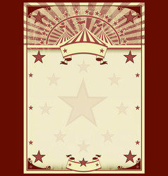 circus stars vintage poster vector image