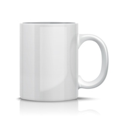 Classic White Cup vector image