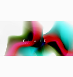color flowing wave trendy liquid design template vector image