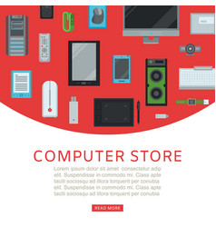 Computer store and electronic gadgets vector