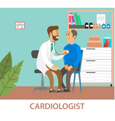 Consultation with a practitioner cardiologist vector