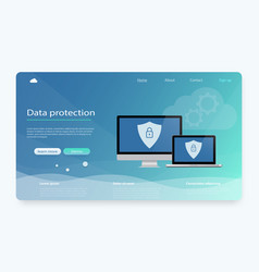 data protection privacy internet security vector image