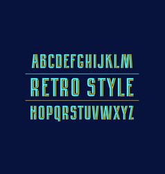 decorative sans serif font with interweaving vector image