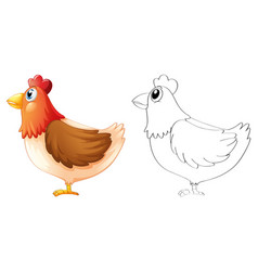 Doodle animal for chicken vector