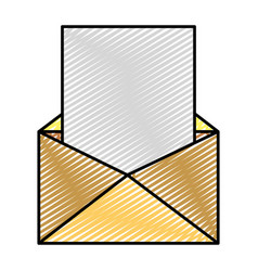 Doodle e-mail message with document text vector