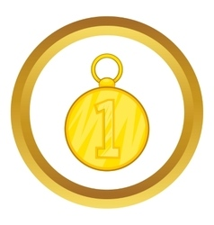 First position cold medal icon vector