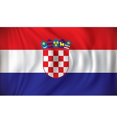 Flag of Croatia vector image