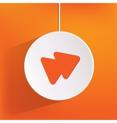 Forward or skip web icon vector image