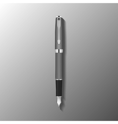 fountain pen template vector image