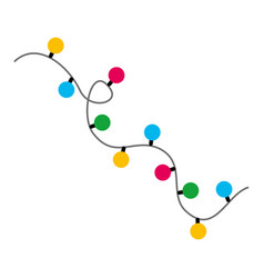 Garlands christmas decorations lights effects vector