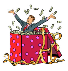 gift businessman with money vector image