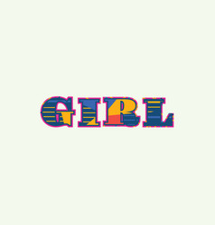 Girl concept word art vector