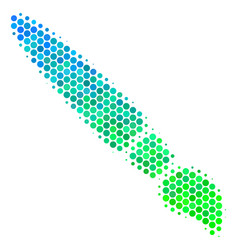 halftone blue-green brush icon vector image