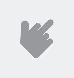 Hand showing the middle finger vector