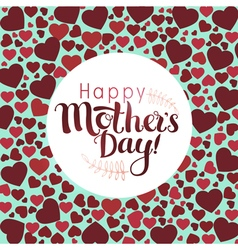 Happy Mothers day heart vector image