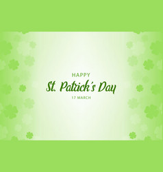happy st patricks day background vector image