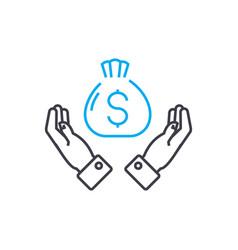 high profitability thin line stroke icon vector image