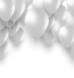 Holiday Background with White Balloons vector