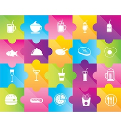 Icons of drinks and food vector image vector image