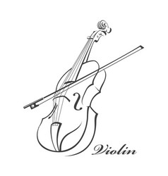 Image of violin vector