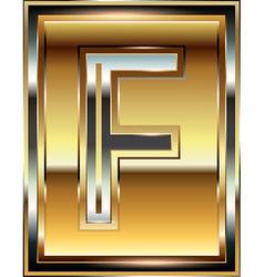 Ingot Font Letter F vector