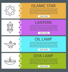 islamic culture web banner templates set vector image