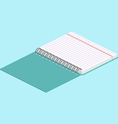 Isometric on a blue background with the image of vector