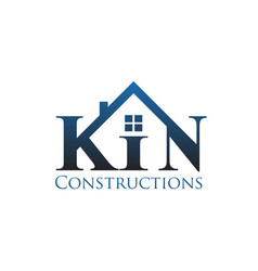k n construction logo designs modern vector image
