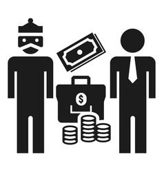 king man bribery money icon simple style vector image