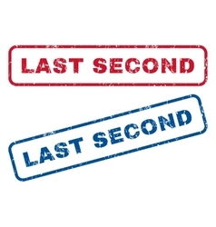 Last Second Rubber Stamps vector image