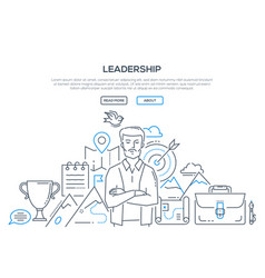 Leadership - modern line design style vector