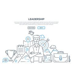 leadership - modern line design style vector image