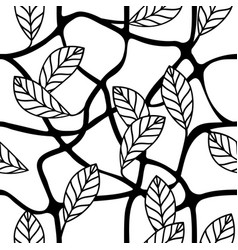 leaves and branches decorative repeating pattern vector image