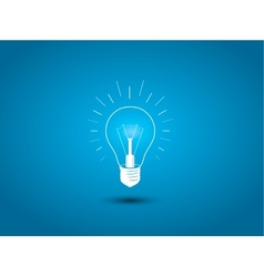 Light bulb idea icon on blue background vector image