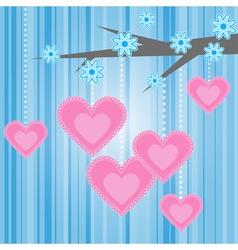 love heart romantic vector image