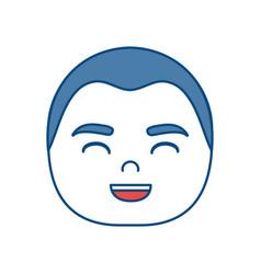 Man smiling icon vector
