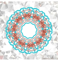 Mandala element with abstract pattern vector image