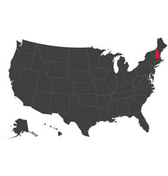 map of usa - new hampshire vector image