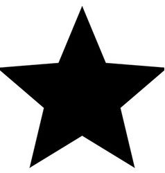 Minimalistic black star icon template vector image