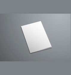 mockup cover for a closed bifold brochure vector image
