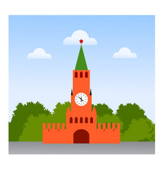 moscow kremlin travel to russian federation vector image