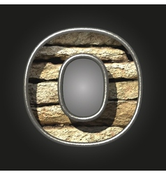 Old stone letter o vector
