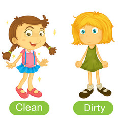 Opposite words with clean and dirty vector