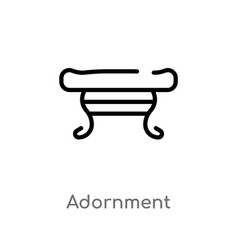 Outline adornment icon isolated black simple line vector
