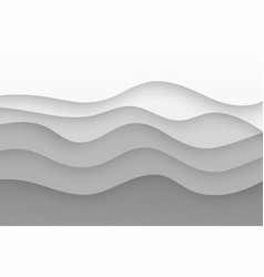paper cut wavy lines template vector image