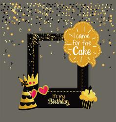 Party framework to happy birthday celebration vector